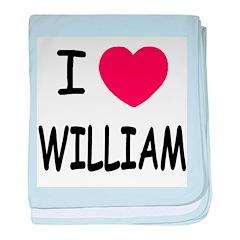 I heart william baby blanket
