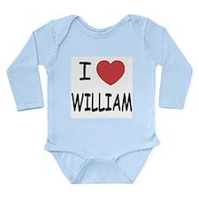 I heart william Long Sleeve Infant Bodysuit