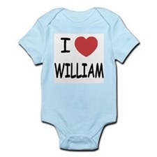 I heart william Infant Bodysuit