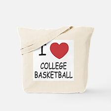 I heart college basketball Tote Bag