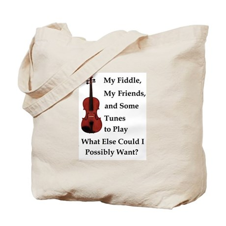 My Fiddle, My Friends, and Tunes Tote Bag
