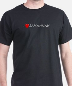 I Love Savannah Black T-Shirt