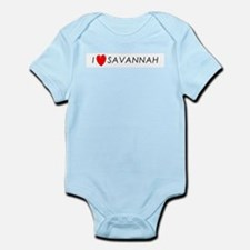 I Love Savannah Infant Creeper