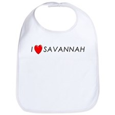 I Love Savannah Bib