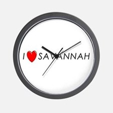 I Love Savannah Wall Clock