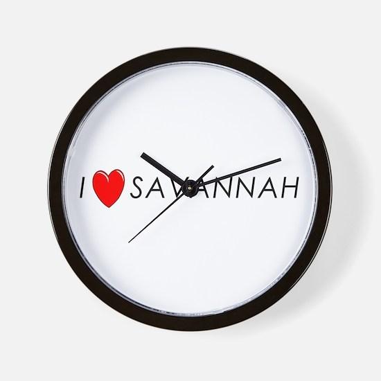 I Love Savannah Wall Clock