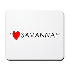 I Love Savannah Mousepad
