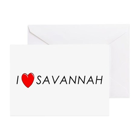 I Love Savannah Greeting Cards (Pk of 10)