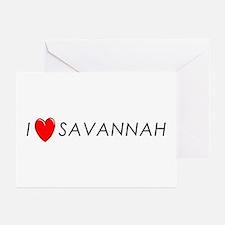 I Love Savannah Greeting Cards (Pk of 10)