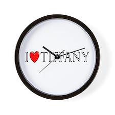 I Love Tiffany Wall Clock