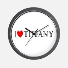 I Love Tiffany Wall Clock