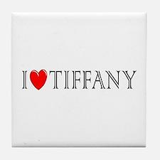 I Love Tiffany Tile Coaster
