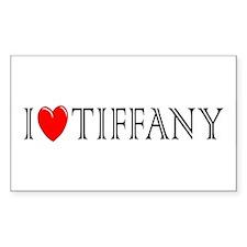I Love Tiffany Rectangle Decal