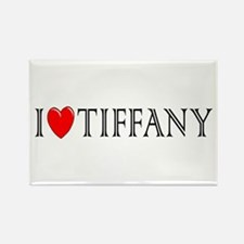 I Love Tiffany Rectangle Magnet