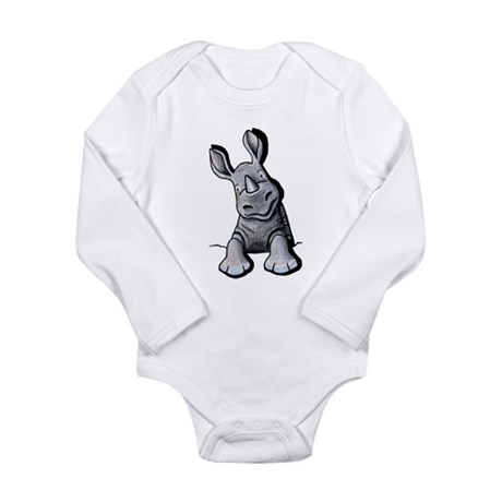 Pocket Rhino Long Sleeve Infant Bodysuit
