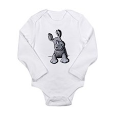 Pocket Rhino Long Sleeve Infant Bodysuit