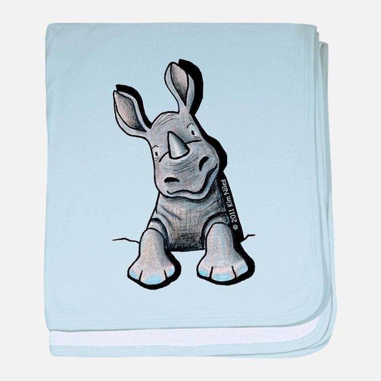 Pocket Rhino baby blanket