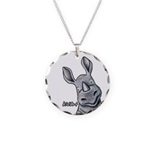 Pocket Rhino Necklace Circle Charm