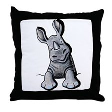 Pocket Rhino Throw Pillow