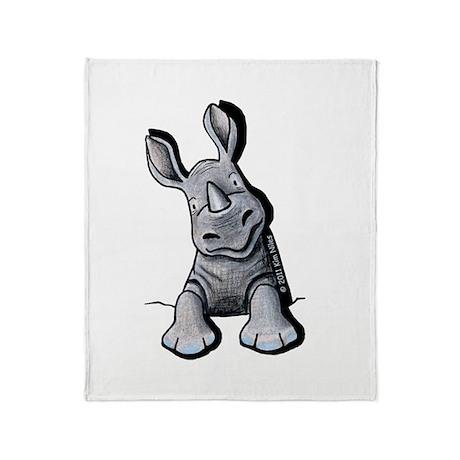 Pocket Rhino Throw Blanket