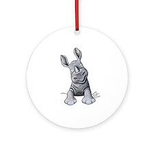 Pocket Rhino Ornament (Round)