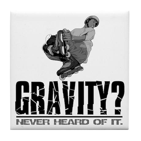 Gravity? Inline Skater Tile Coaster