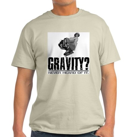 Gravity? Inline Skater Ash Grey T-Shirt
