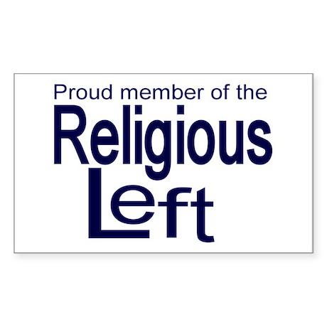 Proud member of the religious Sticker (Rectangular