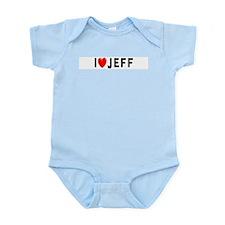 I Love Jeff Infant Creeper