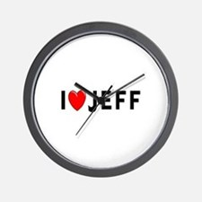 I Love Jeff Wall Clock