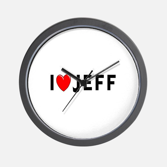 I Love Jeff Wall Clock