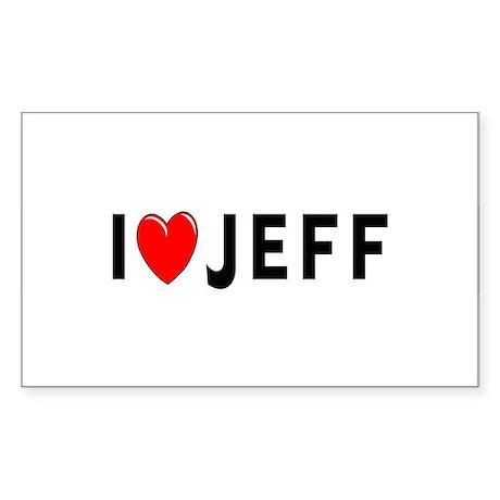 I Love Jeff Rectangle Sticker