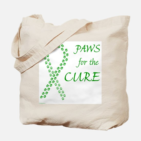Green Paws Cure Tote Bag