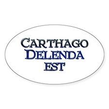 Carthago Delenda Est! Oval Decal
