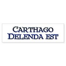 Carthago Delenda Est! Bumper Bumper Sticker