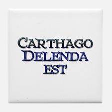 Carthago Delenda Est! Tile Coaster