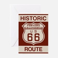 Fontana Route 66 Greeting Card