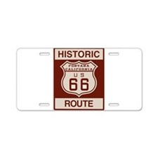 Fontana Route 66 Aluminum License Plate
