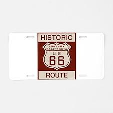 Fontana Route 66 Aluminum License Plate