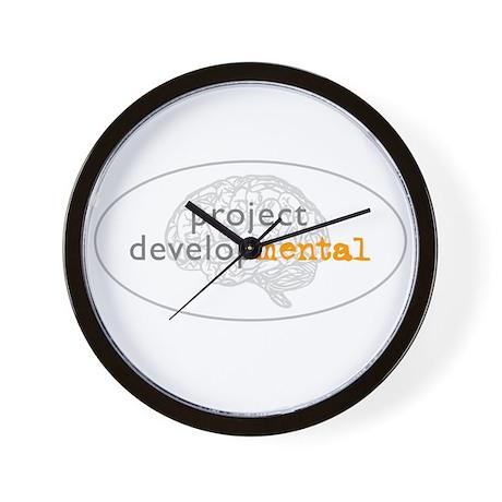 projectdevelopMENTAL Wall Clock