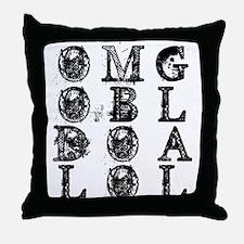 Text Bin Laden Dead OMG Throw Pillow