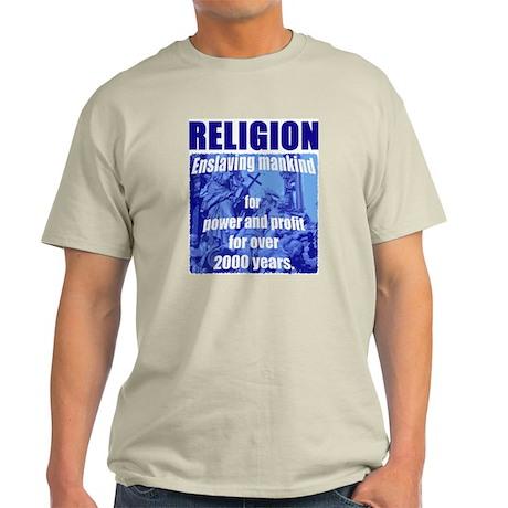 Religion Power & Profit Ash Grey T-Shirt