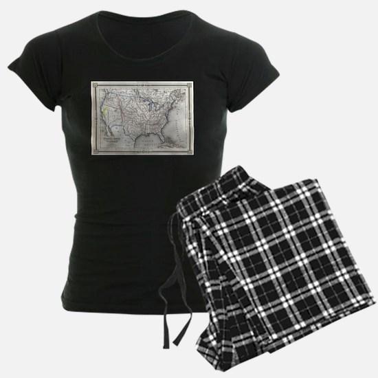 Vintage United States Gold Rush Regions Ma Pajamas