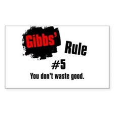 Gibbs' Rule #5 Decal
