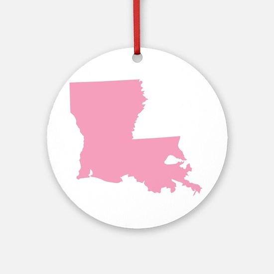 Louisiana - Pink Ornament (Round)
