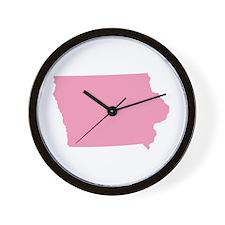 Iowa - Pink Wall Clock