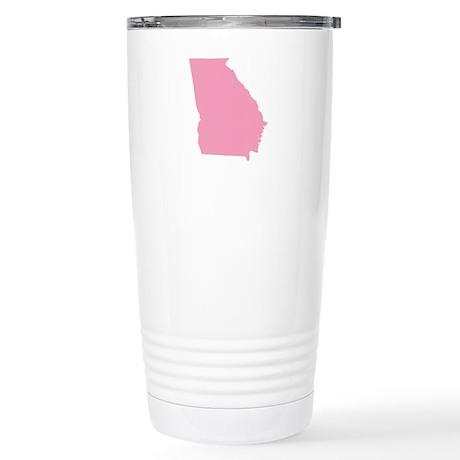 Georgia - Pink Stainless Steel Travel Mug