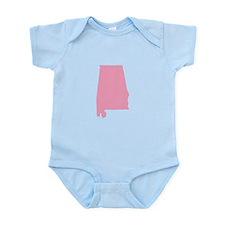 Alabama - Pink Infant Bodysuit