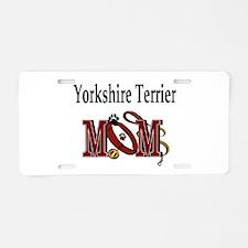 Yorkie Dog Mom Aluminum License Plate