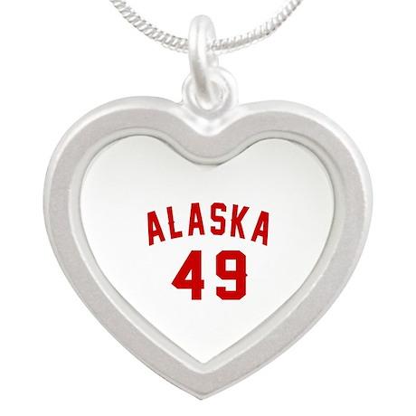 Alaska 49 Birthday Designs Silver Heart Necklace